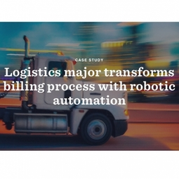 Logistics major transforms billing process with robotic automation